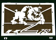 cache / Grille de radiateur inox poli Kawasaki Z750 04>06 Bulldog + grill. or