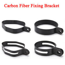 Motorcycle Exhaust Muffler Hanger Clamp Ring Carbon Fiber Strap Mount Bracket