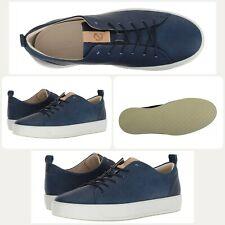 ECCO Men's Soft 8 Tie Fashion Sneaker Indigo Powder Blue Moon (Size US 8-8.5)