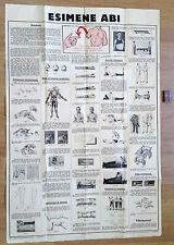 1934 Vintage ESTONIA FIRST AID Advertising POSTER Tartu Edition Large Size