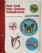ADESIVI/Sticker: LOTTO TOTO-TOCCAMI LOTTERIA-TOCCAMI Farfalla (14031666)