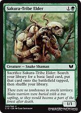 SAKURA-TRIBE ELDER Commander 2015 MTG Green Creature — Snake Shaman Com