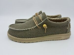 Scarpe sneakers uomo HEY DUDE Wally Braided army blu verde militare estate