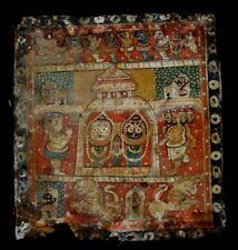 Rare peinture temple Inde jagannath Puri Antique indian painting krishna 1820