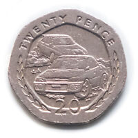 Subaru Cosworth 20p coin Manx Rally Isle of Man 1996/1998 *FAST & FREE Delivery*