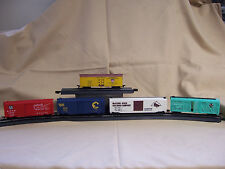 LOT 5 HO Freight Cars Box Refrigerator Cattle Car ATSF 140185 MR 2184 C&O 26621