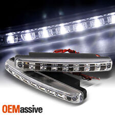 HYPER WHITE 8 LED BUMPER 12V DRIVING FOG LIGHT CLEAR 6000K DAYTIME RUNNING LAMPS