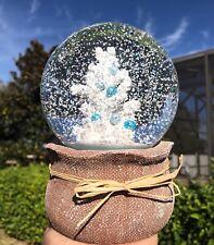 Christmas Tree Musical Snow Globe Nautical Beach Coastal House Decor Coral New
