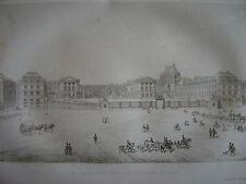 Grande gravure Vue générale du Palais de VERSAILLES en 1843