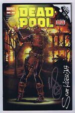 Deadpool #34 Variant 1:52 Signed w/COA Brooks/Koblish VF/NM 2016 Marvel CGC