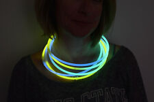 DirectGlow 50ct Aqua/Green/Yellow 22 inch Glow Necklaces Preattached Connectors