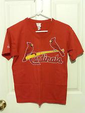 St. Louis Cardinals T Shirt Youth Large V Neck Short Sleeve EUC