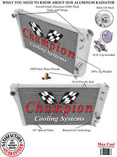 3 Row Aluminum QA Radiator For 84 - 90 Corvette
