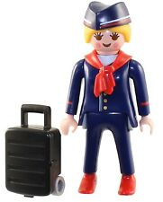 Playmobil Mystery Figure Series 9 5599 Flight Attendant Airline Stewardess NEW