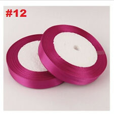 25mm 25Yard Colorful Silk Ribbon Satin Ribbon for Gifts Bow Tie Handcrafts Decor