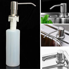 Kitchen Soap Dish Dispenser Stainless Steel Detergent Faucet Sink Lotion Pump