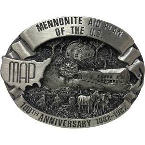 VTG Siskiyou 1983 Mennonite Aid Plan 100th Anniversary 1892-1992 Belt Buckle