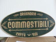 INSEGNA COMMESTIBILI DROGHERIA CAFFE' VINI NEGOZIO OLD SIGN ITALY