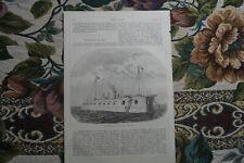 1862 Druck  38 / Österreich Marine Schwimmende Batterie Venedig Hafen