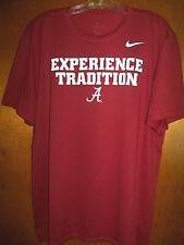 Nike DriFit Alabama Crimson Tide Football Experience Tradition Training Shirt XL