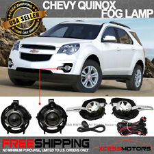 Fit 10-16 Chevy Equinox Front Projector Fog Lamp Light Pair Kit LH RH Clear Lens