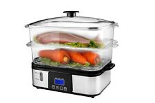 PureMate PM 10107 Digital Food Steamer 12 Litres with Rice Steamer Bowl