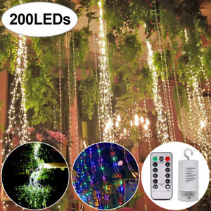 LED Waterfall Vine String Lights Copper Wire Fairy Light Christmas Hanging Decor