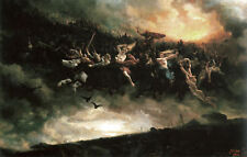 Peter Nicolai Arbo Print Framed - The Wild Hunt (Picture Poster Replica Art)
