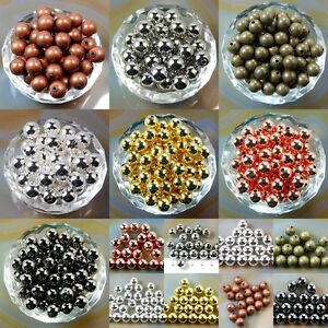 Wholesale Smooth Round Metal Copper Spacer Beads 2.4mm 3mm 4mm 5mm 6mm 8mm 10mm