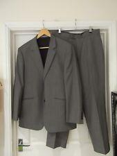BROOK TAVERNER Suit Grey Herringbone 2 Piece Jacket & Trousers Size 40/34S