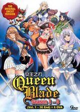 Queen's Blade (Season 1- 3) + 6 OVA DVD (Vol.1 to 36 end) Uncut English Audio