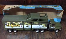 Rare NEW Vtg 1986 ERTL Military Wolfpack Mobile Command H.Q. Truck w/7 Figures