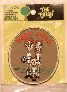 """SOCCER """"Family Affair"""" Embroidered 3.5"""" Patch Sealed Pack Iron-On USA 1970's"""