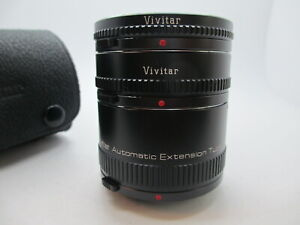 Vivitar AT-22, 3 Section Automatic Extension tube 36mm,20mm,12mm Olympus OM