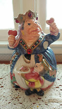Fitz & Floyd Queen of Hearts Alice in Wonderland Cooke Jar 1992 With the King