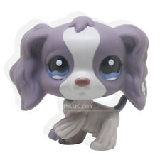 #1209 Rare Littlest Pet Shop Purple Cocker Spaniel Dog Puppy Blue Eyes LPS