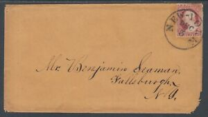 US Sc 11A on 1852 cover to Fallsburgh, NY incl. 4-page Letter, w/ CERT