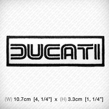 New DUCATI Embroidered Patch Iron on, sew, Decorate RACING Sports BIG BIKE MOTOR