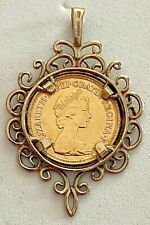 1982- GOLD HALF SOVEREIGN SET IN BEZEL .375 (9K), PLEASE SEE OTHER GOLD COINS