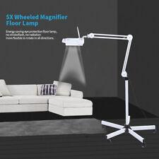 15W Lámpara de Aumento Fría LED 5X Lupa Con Soporte Altura Ajustable Para Salón
