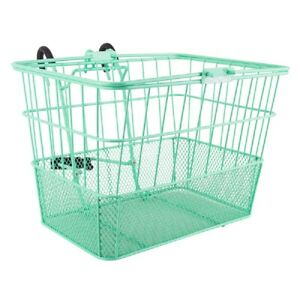 Sunlite Wire Steel Mesh Front Lift Off Bicycle Basket SeaGreen Carrier Colorful