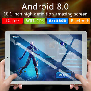 """New 10.1"""" WIFI/WLAN 4G-LTE HD IPS PC 8+128G Tablet Android Dual SIM Camera"""