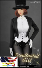 1/6 Female Magician Tuxedo Costume Suit For 12'' figure hot toys Phicen ❶USA❶
