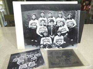 1900's Branch Cyclery Baseball Team Photo Stockton CA Original Logan Negative