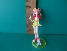 """Idol Densetsu Youko Tanaka  4""""in PVC Figure Sexy Pink hair with red shawl + pet!"""