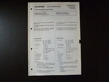 Original Service Manual Blaupunkt Autoradio Frankfurt 7632640