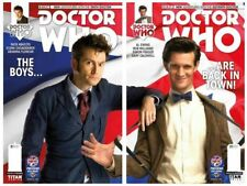 DOCTOR WHO ISSUE 1 - 10th & 11th DOCTORS PREVIEWS UK EXCLUSIVE PHOTO COVER SET