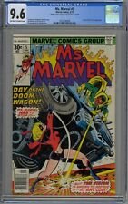 Ms. Marvel #5 CGC 9.6 NM+ OwWp Marvel 1977 RARE Double Cover 1st 9.6 2nd 9.6