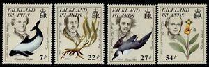 Falkland Islands 433-6 MNH Naturalists, Birds, Flowers, Dolphin