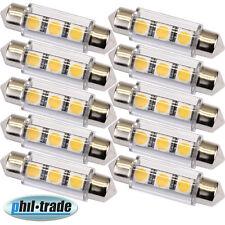 10 Stück 42mm Soffitte Lampe 3 x 5050 SMD LED WARM WEISS Innenraum Beleuchtung